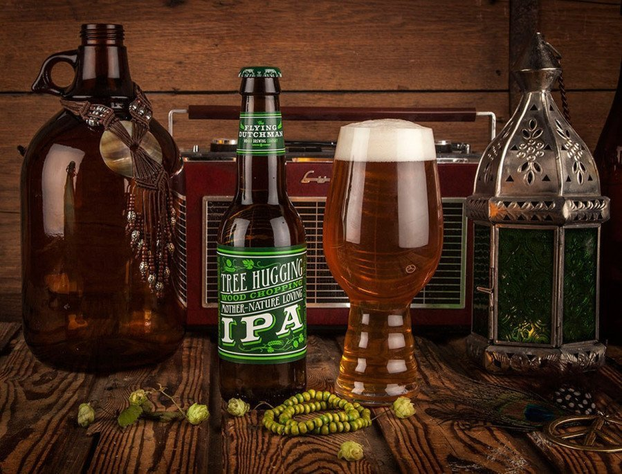 картинка Flying Dutchman Tree Hugging Wood Chopping Mother-Nature Loving IPA 0,33 л., алк 6,0% от магазина Leolsbeer.ru Пиво Хорошего Вкуса